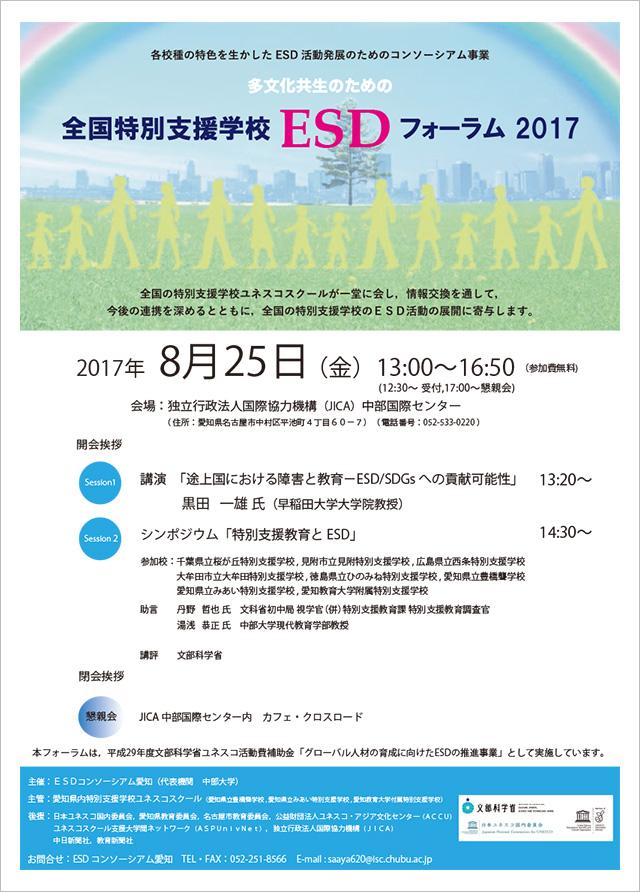 全国特別支援学校ESDフォーラム2017のご案内